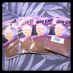 NWT Lot of 4 wig caps 2 per pkg